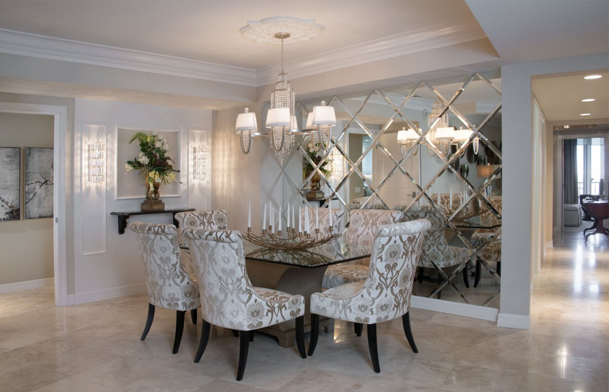 High Rise Hollywood - Dining Room by Wright Interior Group