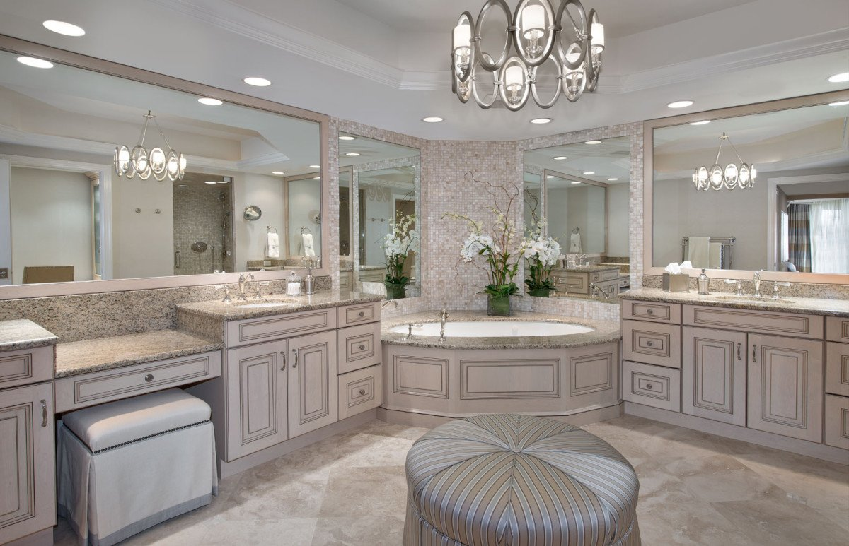 High Rise Hollywood - Master Bathroom by Wright Interior Group