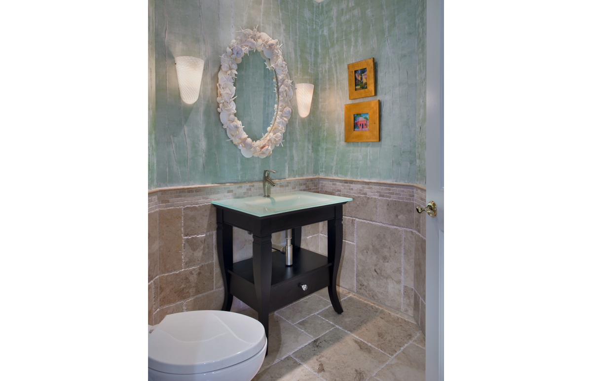 Classic Elegance - Powder Room by Wright Interior Group - Naples, FL