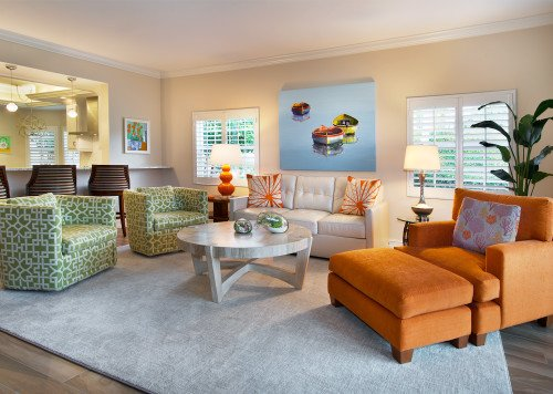 Colorful Contemporary - Living Room by Wright Interior Group