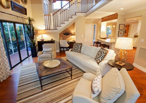 Rustic Townhouse - Great Room by Wright Interior Group