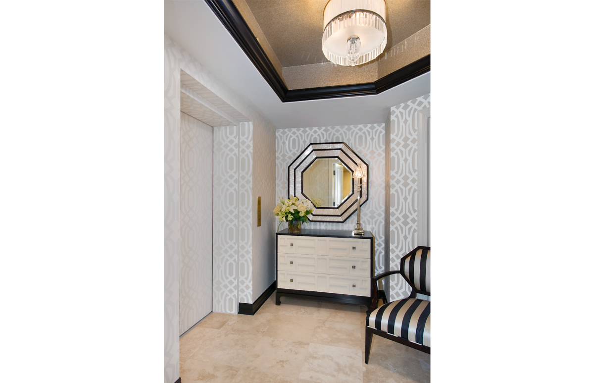 High Rise Hollywood - Foyer by Wright Interior Group
