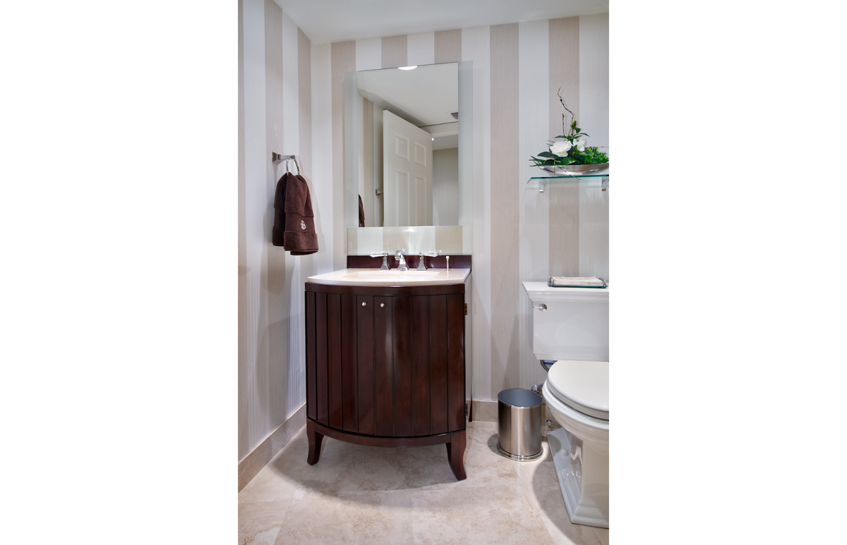 High Rise Hollywood - Powder Room by Wright Interior Group