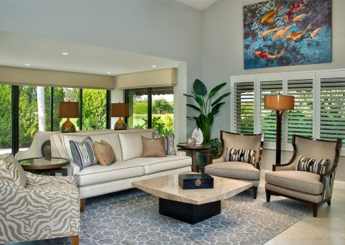 Moroccan Medley - Living Room by Wright Interior Group