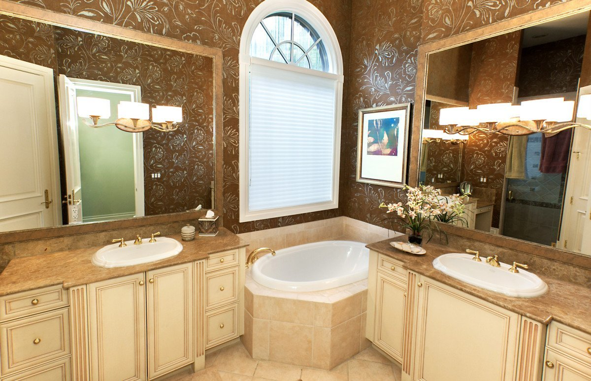 Sophisticated Surroundings - Master Bathroom by Wright Interior Group