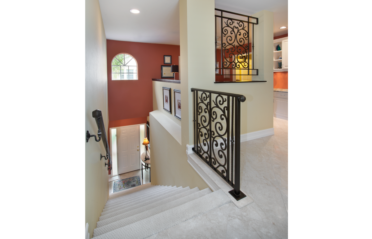 Tuscan Retreat - Entry Stairwell by Wright Interior Group