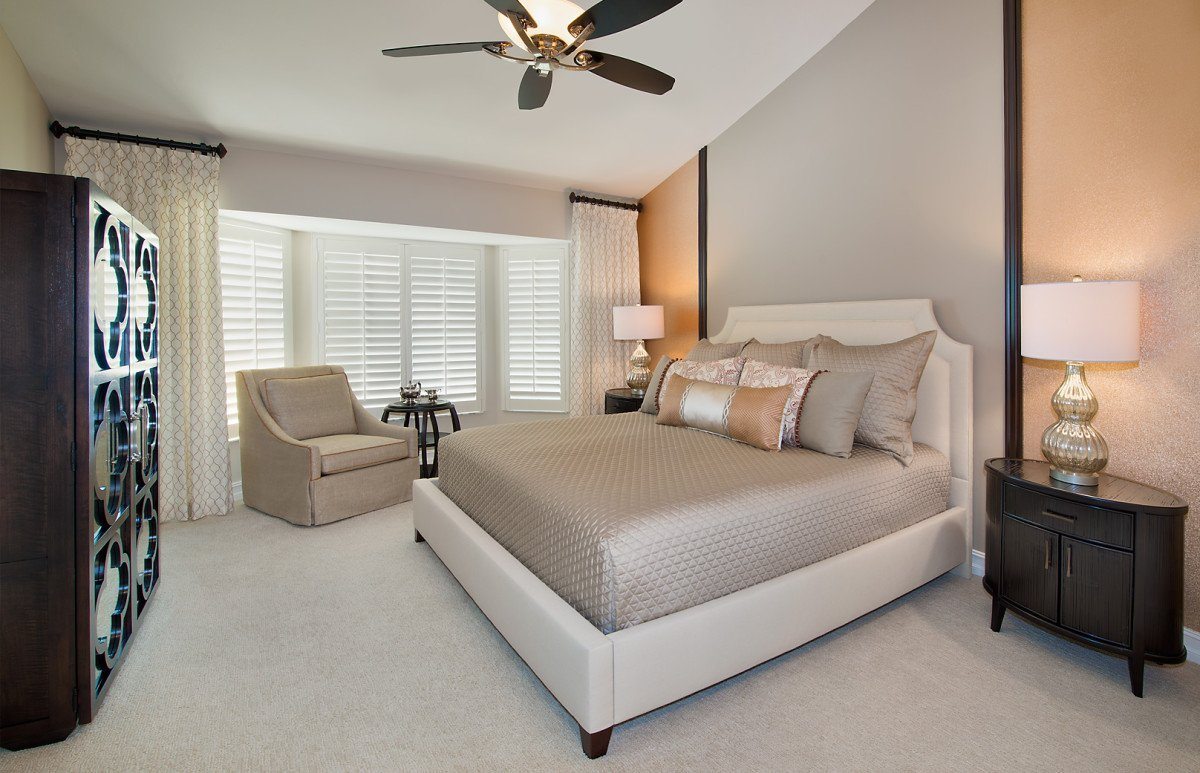 Tuscan Retreat - Master Bedroom by Wright Interior Group