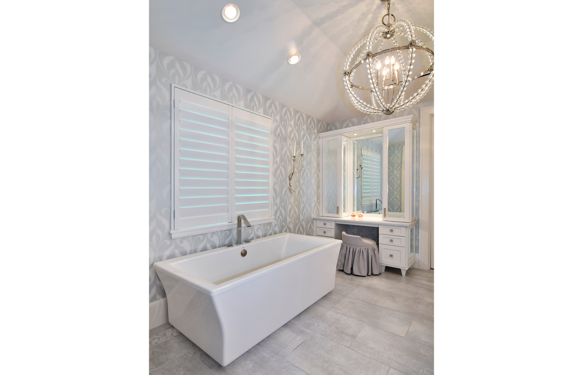 Bayfront Beautiful - Master Bathroom by Wright Interior Group