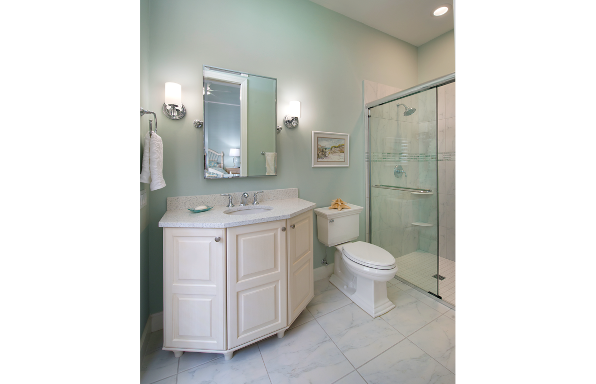 Refined Tradition - Guest Bathroom by Wright Interior Group