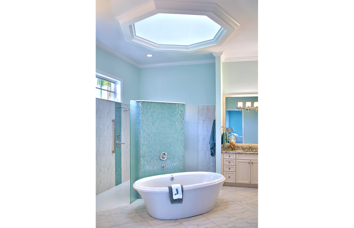 Refined Tradition - Master Bathroom by Wright Interior Group