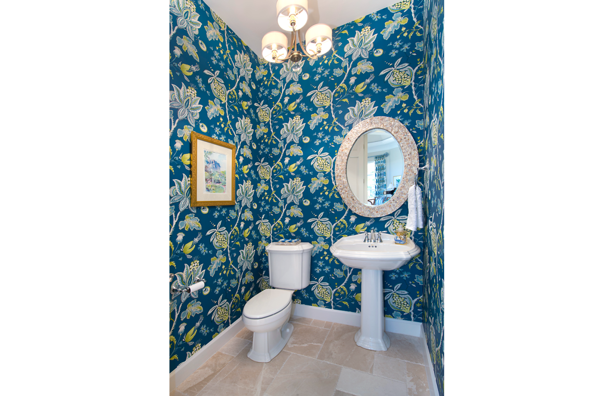 Refined Tradition - Powder Room by Wright Interior Group