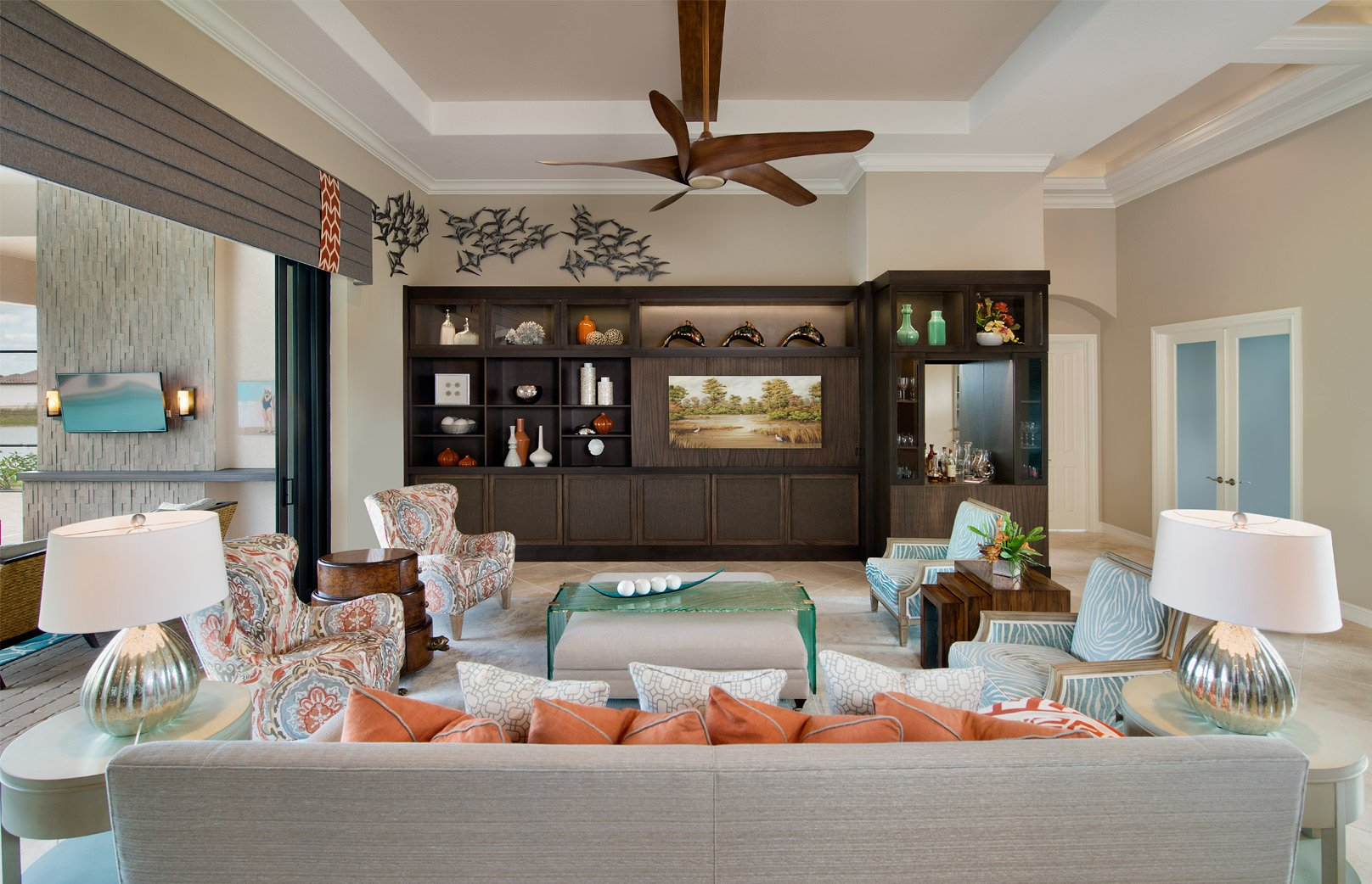 Tailored Transitional   Living Room