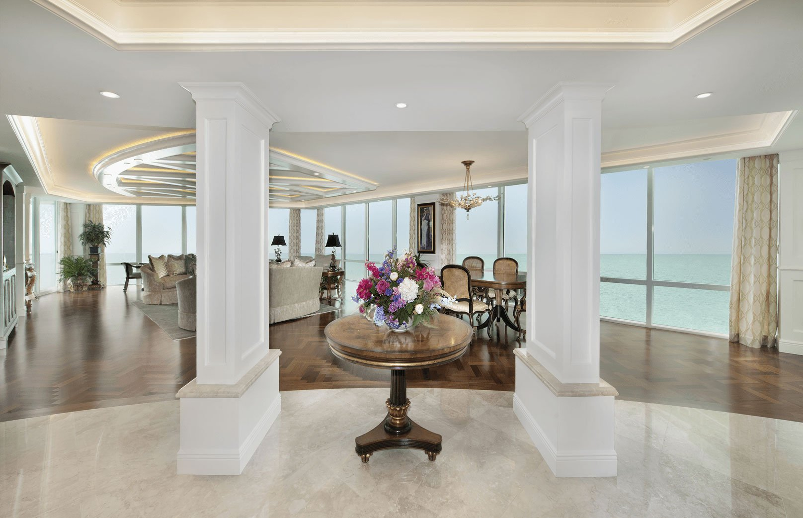 Foyer And Great Room : Elegance refined wright interior group
