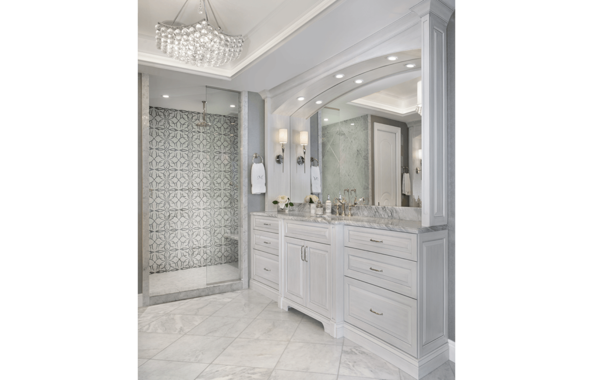 Elegance Refined - Master Bathroom by Wright Interior Group