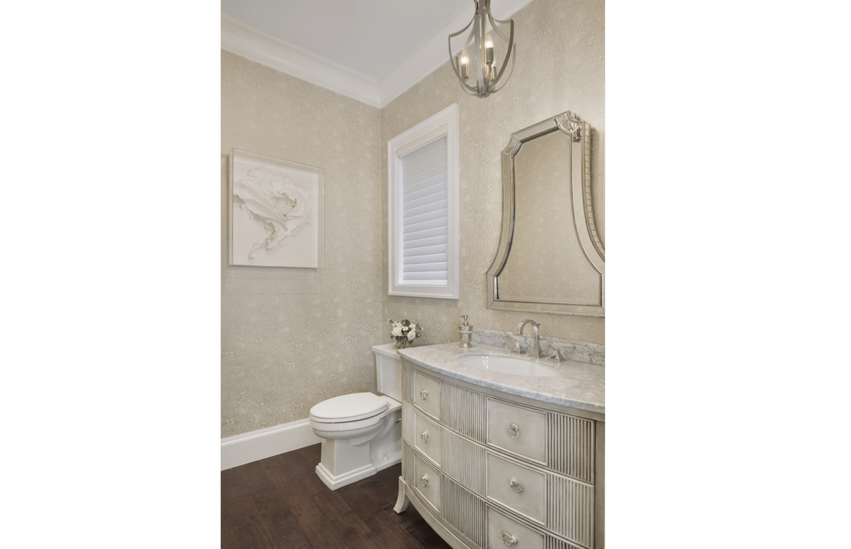 Golf Getaway - Powder Room by Wright Interior Group