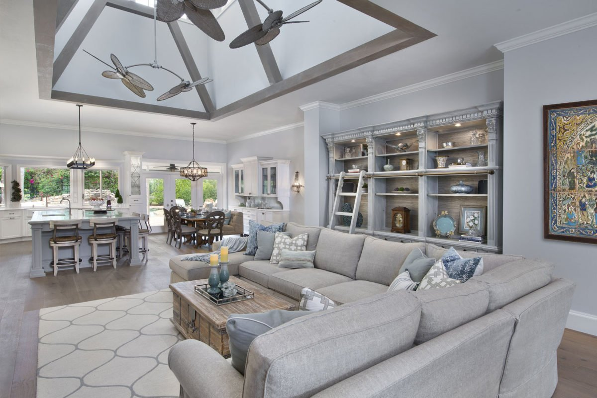Farmhouse Flair - Great Room by Wright Interior Group