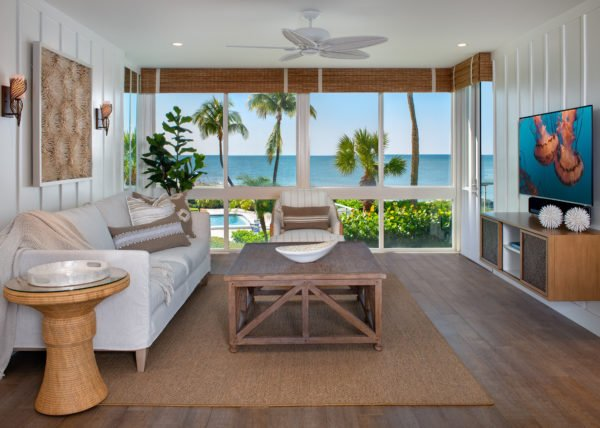 Beach Bungalow - Living Room by Wright Interior Group