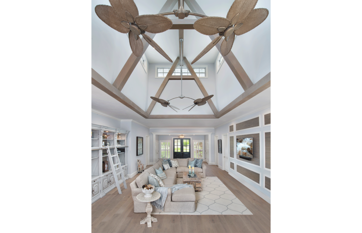 Farmhouse Flair - Great Room Ceiling by Wright Interior Group