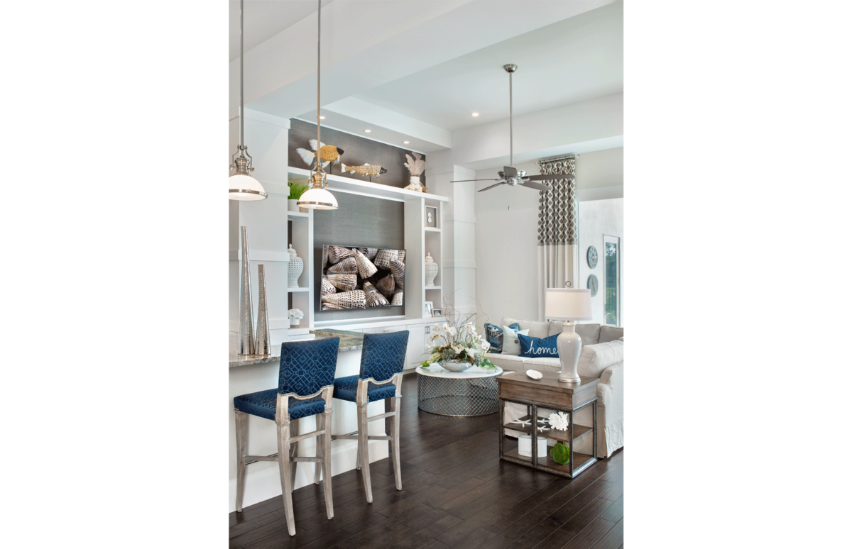 Golf Getaway - Family Room by Wright Interior Group