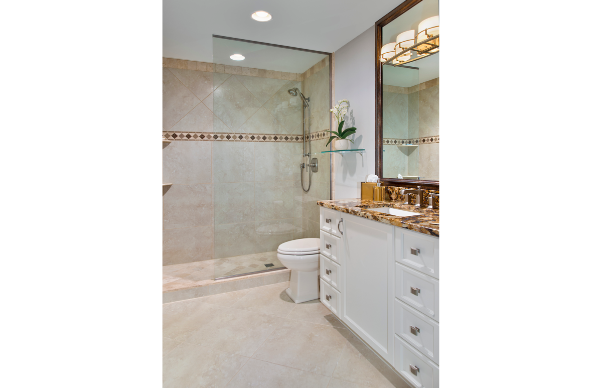 Moroccan Medley - Guest Bathroom by Wright Interior Group