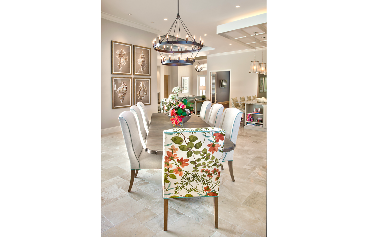 Coastal Couture - Dining Room by Wright Interior Group