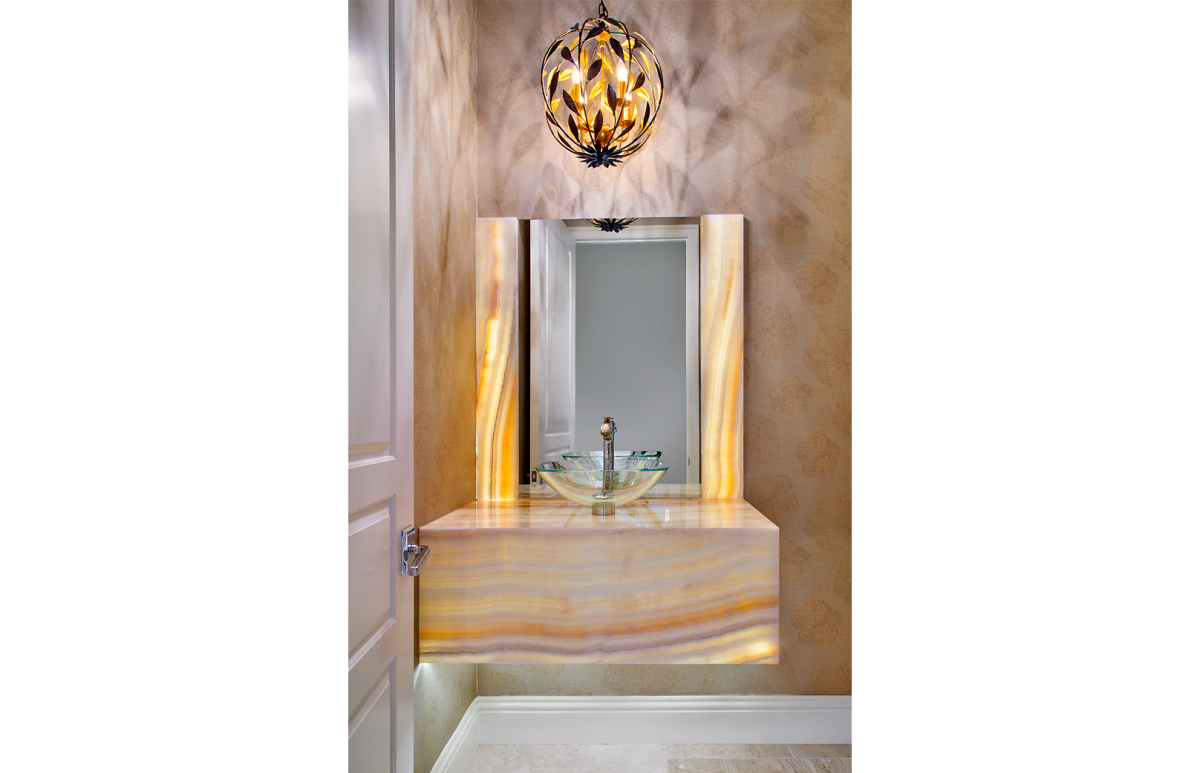 Coastal Couture - Agate Powder Room by Wright Interior Group