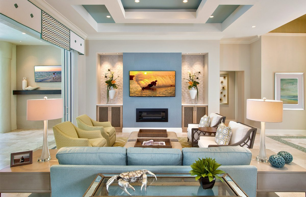 Coastal Couture - Living Room by Wright Interior Group