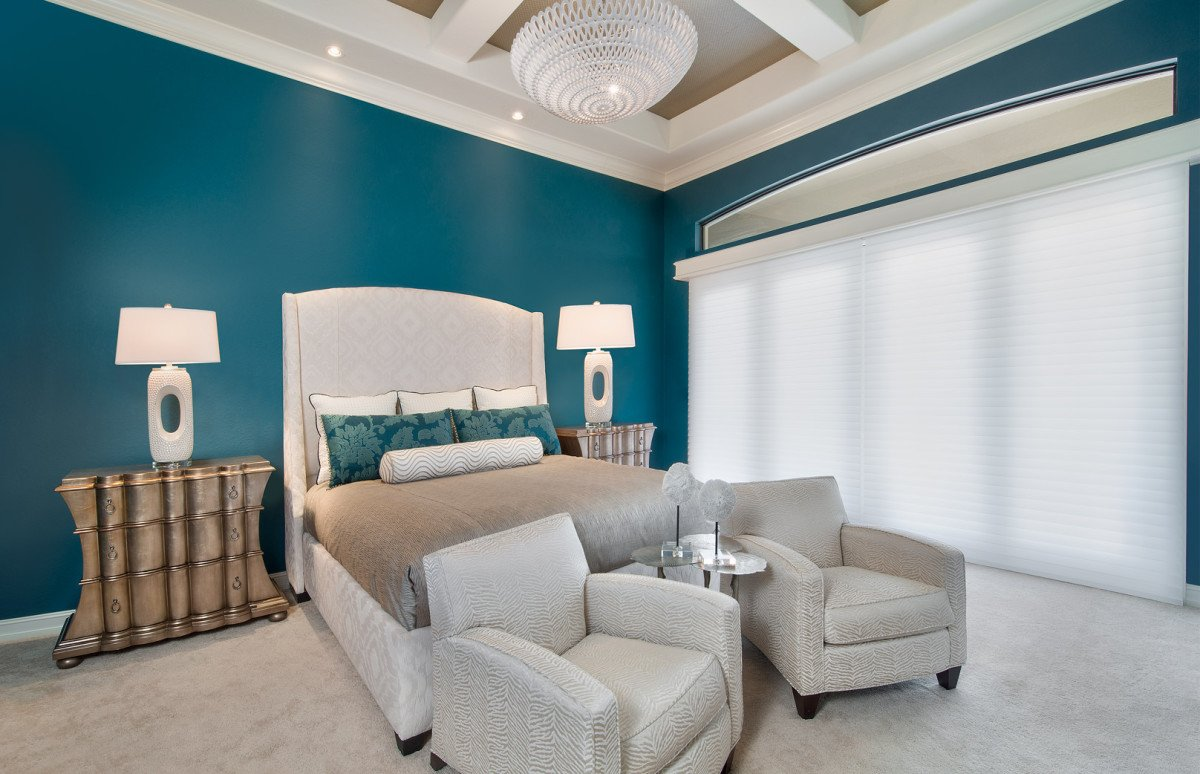 Tailored Transitional - Master Bedroom by Wright Interior Group