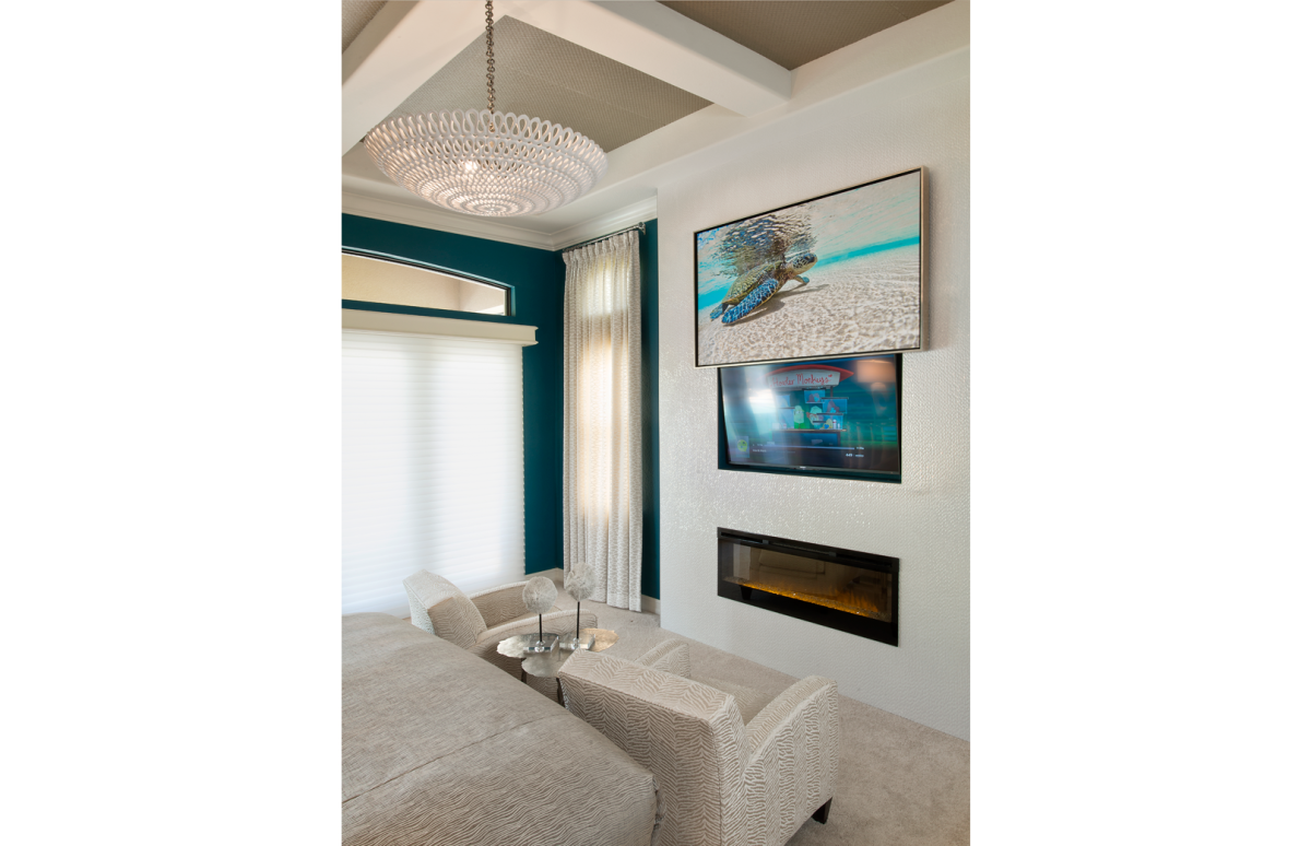 Tailored Transitional - Master Bedroom Fireplace by Wright Interior Group