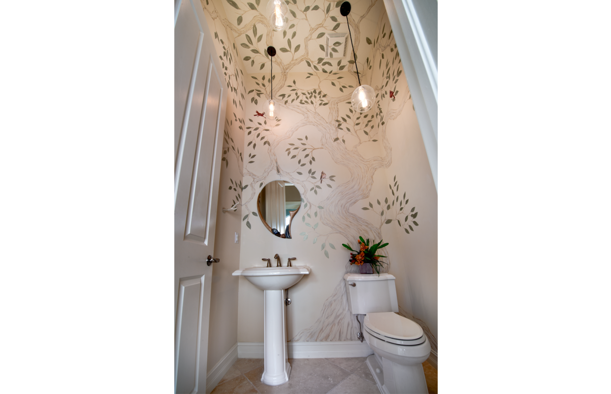 Tailored Transitional - Powder Room by Wright Interior Group