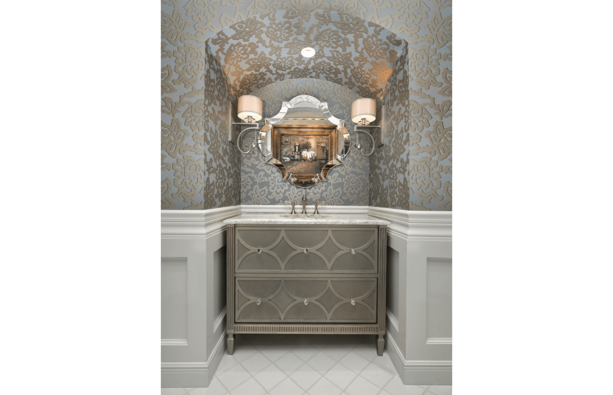 Elegance Refined - Powder Room by Wright Interior Group