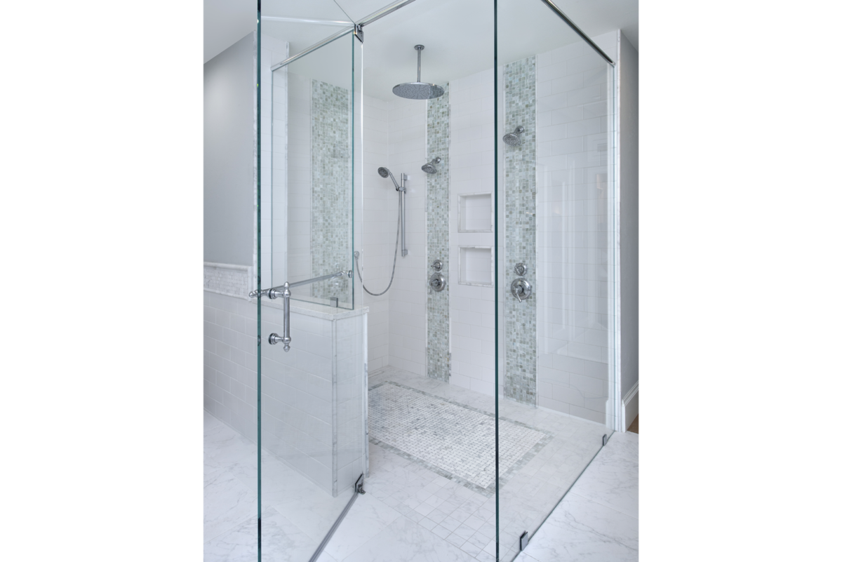 Farmhouse Flair - Master Bathroom Shower by Wright Interior Group
