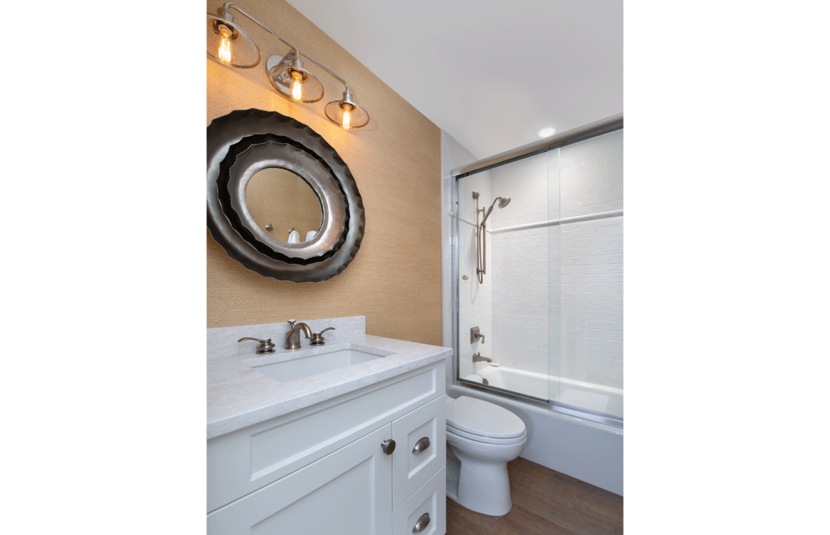 Beach Bungalow - Guest Bathroom by Wright Interior Group