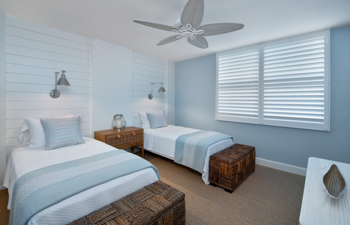 Beach Bungalow - Guest Bedroom by Wright Interior Group